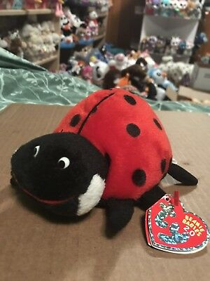 "Ty MAIDEN -Red/Black Spotted Ladybug 6"" Beanie Baby 2.0! *Retired* RARE & VHTF!!"