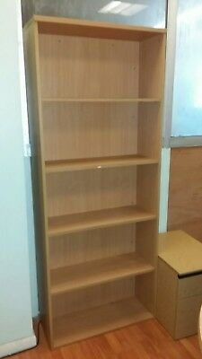 Office Bookcase Beech with Adjustable Shelves  - Height 2000mm