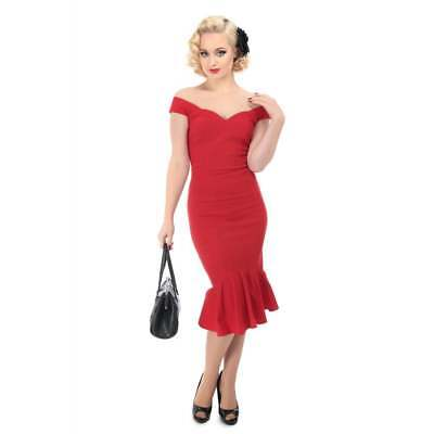 b4c707a0c Valentines Day Modcloth Collectif Retro Sexy Fishtail Pencil Red Dress PLUS