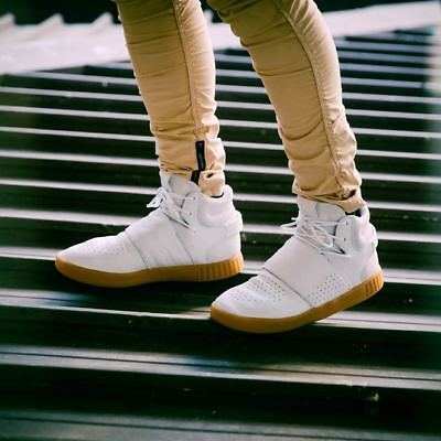 a53283258b5ebc Adidas Mens Tubular Invader Strap Hi Top Trainers Shoes White BY3629 UK 7 to  12