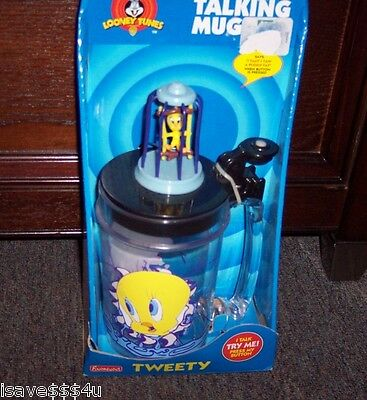 "New Looney Tunes Tweety Bird Talking Mug  - Says ""i Taut I Taw A Puddy Tat"" B/o"