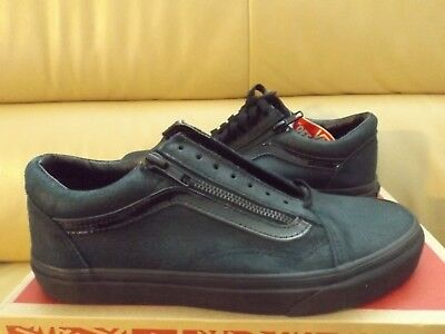 96f048ccda9bc7 Vans Old Skool Zip Men s Skate Shoes Size 7.5 Patent Crackle Black  VN0A3493M1i