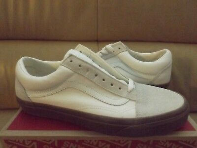 007648cfe03d Vans Old Skool (Suede Canvas) Men s Shoes Size 10.5 White Gum VN0A38G1QW3