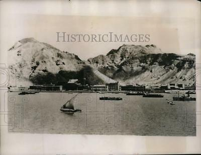 1935 Press Photo 1200 British Troops been sent to Malta and Harbor of Aden