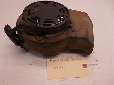 Briggs & Stratton 493293 Shroud W/ Recoil Assembly. Model 12H802. Needs Repair