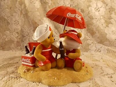 SEASIDE WITH COCA COLA COLLECTION Figurine Cool Off With Coke ~ SWEET!!