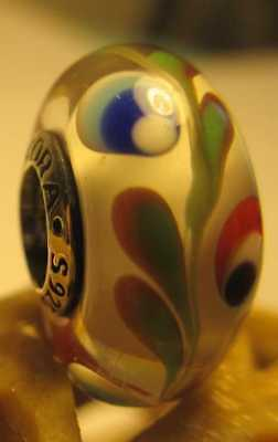 New Authentic Pandora Silver 925 Ale Colorful Folklore Murano Glass Bead Charm