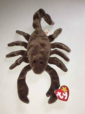 TY Beanie Babies Stinger The Scorpion NEW Retired Plush Stuffed Baby Toy NWT