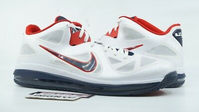 the best attitude 2ef9e 87cfe Nike Air Max Lebron 9 Used Sz 15 Usa Olympic White Obsidian Blue Red 510811-