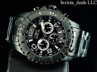 Invicta Men's 48mm Pro Diver SCUBA II Combat Triple Black Stainless Steel Watch