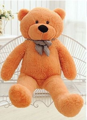 GIANT 80CM BIG CUTE PLUSH TEDDY BEAR HUGE light brown SOFT Doll Toys Kids Gift