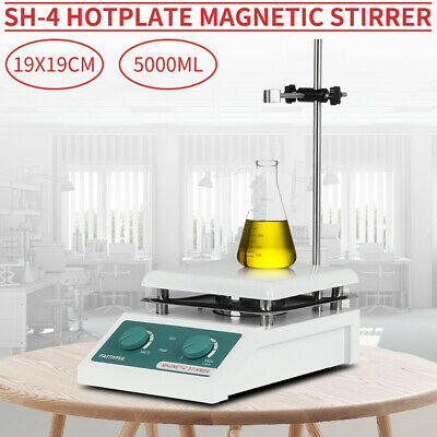 SH-4 Hotplate Magnetic Stirrer 19x19cm 110V Ceramic Top Plate For Liquid