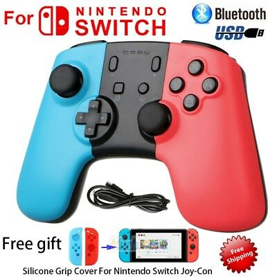 Wireless Bluetooth Pro Controller Gamepad Joypad+Grip Cover for Nintendo Switch