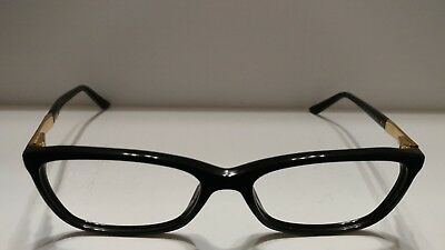 bbf69cb05dd NEW VERSACE RX-ABLE Eyeglasses VE 3249 GB1 54-16 Black   Gold Frames ...