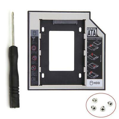 Universal 12.7mm SATA 2nd SSD HDD Hard Drive Caddy for DVD-ROM CD Optical Bay UP