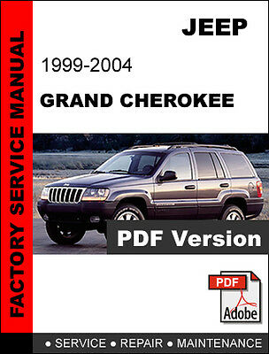 2001 wj jeep grand cherokee factory service manual download