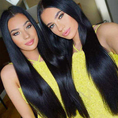 Natural Synthetic Wig Straight Black 30 inches Long Hair Pony Tail Wig For Women
