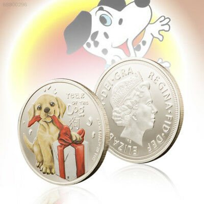 9FF0 DOGE Decoration Silver Challenge Coin Ornaments Australian Year Of Dog
