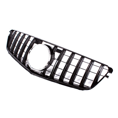 Black Front Grill Grille For Benz C Class W204 C200 C300 C350 07-13 GT R Style