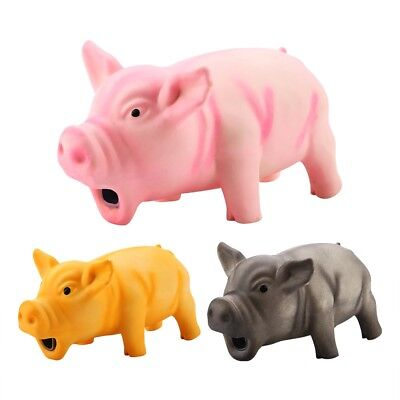 Dog Puppy Squeak Toy Pig Grunting Squeak Latex For Teeth Pet Chewing Toys