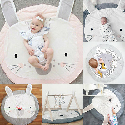 Soft Cotton Baby Kids Game Gym Activity Play Mat Crawling Blanket Floor Rug New
