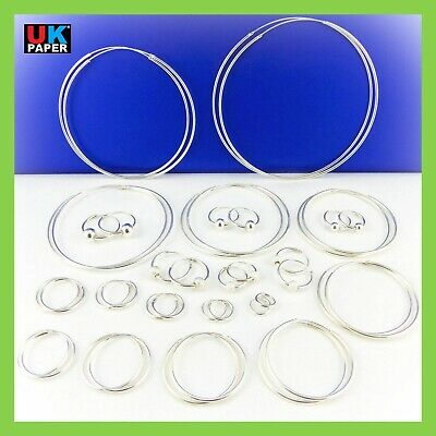 925 Sterling Silver Hoop Earrings Small Large Nose Stud Clip Set Ball Beads Ring