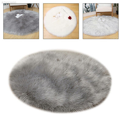 2730 Artificial Beautiful Wool Carpet Round Artificial Wool Home Decoration