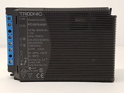 TRIDONIC ATCO PCI 0070 A001 electronic ballast for metal halide HI lamps 70W