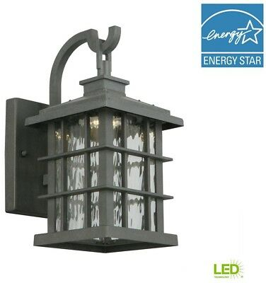 Outdoor Led Security Light Dusk To Dawn Fixture Sconce Wall Mount Exterior Metal