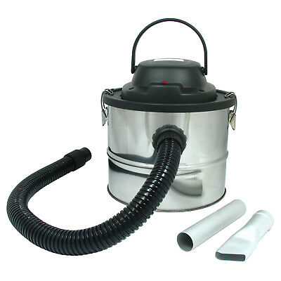 Large 15L Ash Vac Fireplace Dirt Collector Wood Burner Barbecue Vacuum Cleaner