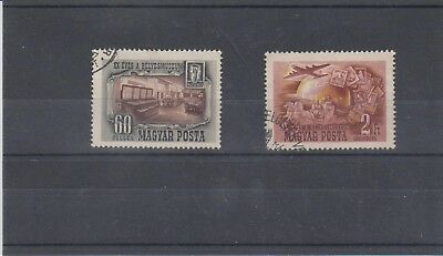 Hungary 1950 Used Mi.1086-1087 Postal Museum 20 Years Old Air Mail