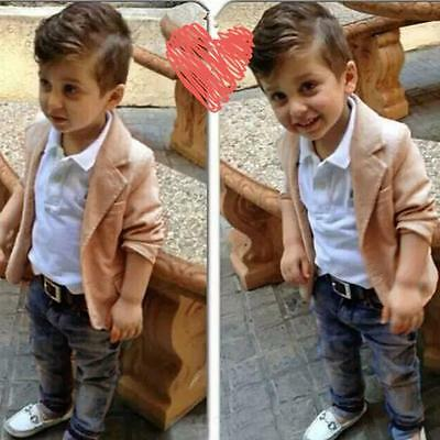 Handsome Toddler Boy Kid Shirt Tops+Coat+Pants Clothes Outfits Gentleman Clothes