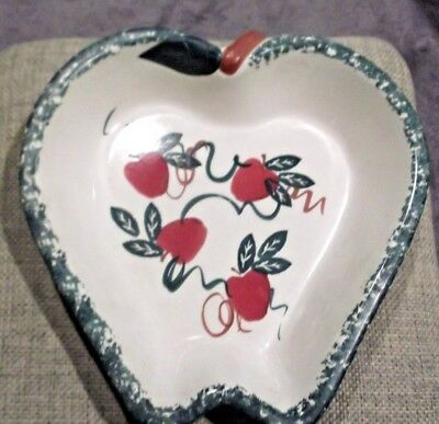 Chaparral Pottery Apple Shaped Stoneware Dish