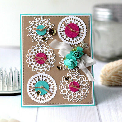 Snow Flower Lace Metal Cutting Dies DIY Album Craft Embossing Paper Card Stencil
