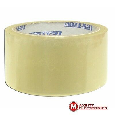 6 Rolls of Clear Strong Parcel Tape Packing Sellotape Packaging 48mm x 40m