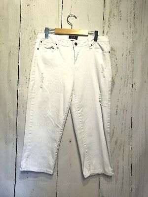 56e1c9ecfe7 EARL JEANS CAPRI Embroidered Bling Pockets Stretch Size 12 Capri