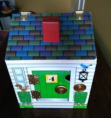 Melissa Doug Wooden Doorbell House With Lock And Keys Works Well