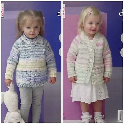 Ladies KNITTING PATTERN Easy Knit Textured Jacket /& Jumper Chunky King Cole 4711