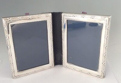 VINTAGE DOUBLE STERLING SILVER PHOTO FRAME CARRS 4.5 X 6 INCH X 2 No