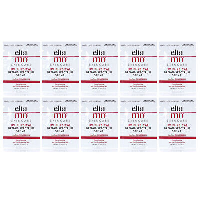 Elta MD UV Physical Broad Spectrum SPF 41 0.07oz/2g SAMPLE SET OF 10