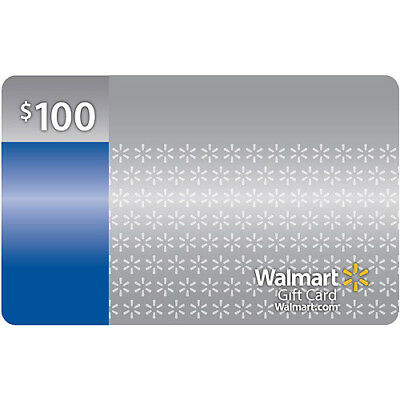 $100 Walmart Gift Card No fees, No expiration date, No cost to reload in Store