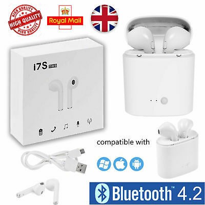 i7s TWS Wireless Stereo Bluetooth Earphone Headphones For iPhone Samsung Phones