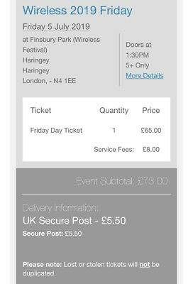 Wireless 2019 Ticket - FRIDAY