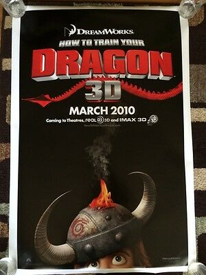 How To Train Your Dragon Original Movie Poster 27x40 Double Sided Advance