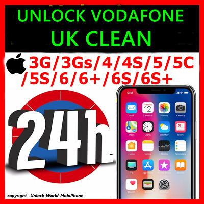UNLOCK VODAFONE UK CLEAN IPHONE 6s/6s+  only      fast service 24h
