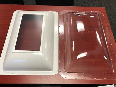 """RV Skylight  Clear Outer & Inner  14"""" X 22"""" Opening.  18"""" x 26"""" outer flange"""