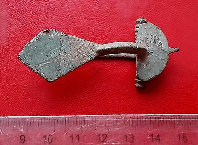 Ancient Roman Bronze Fibula Brooch 3 - 4ct AD