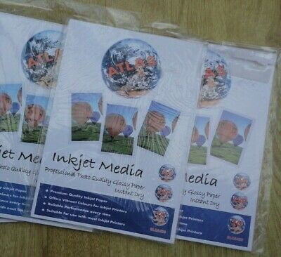 60 Sheets Glossy Coated A4 Inkjet Printer Photo Paper 260Gsm - Made By Atlas