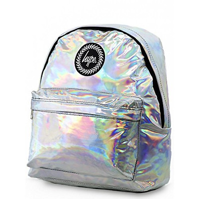 6e05d5e212a Hype Backpack Rucksack School Bag for Girls Boys   Silver Holographic    Ideal
