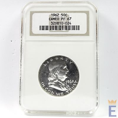 1962 50c Silver Proof Franklin Half Dollar NGC PF 67 Cameo  *D3